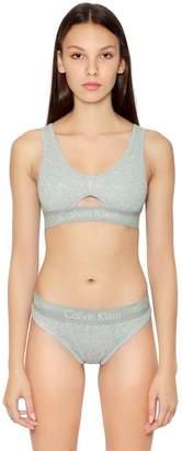 Calvin Klein Underwear Cutout Unlined Cotton Jersey Bralette