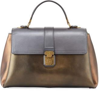 Bottega Veneta Piazza Large Colorblock Metallic Bag