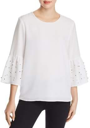 Calvin Klein Embellished Bell-Sleeve Top
