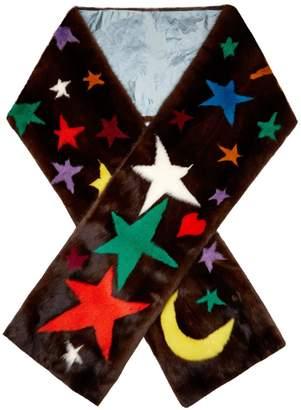 Gucci Symbol-intarsia mink-fur scarf