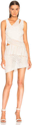 Jonathan Simkhai for FWRD Pearl Crochet Mini Dress