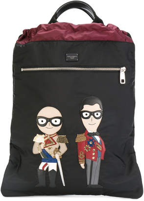 Dolce & Gabbana designer`s patch backpack