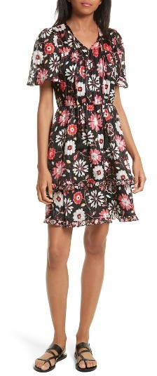 Women's Kate Spade New York Casa Flora A-Line Silk Dress