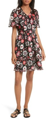 Women's Kate Spade New York Casa Flora A-Line Silk Dress $428 thestylecure.com