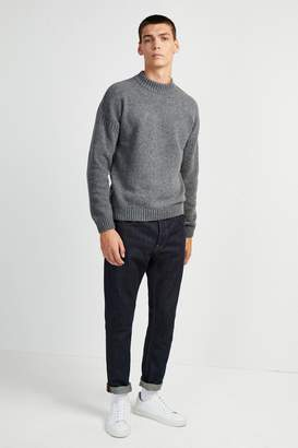 French Connenction Fisherman Wool Crew Neck Jumper