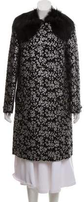 Michael Kors Fur-Accented Wool Coat w/ Tags