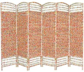 Oriental Furniture 5 1/2' Tall Recycled Magazine Room Divider