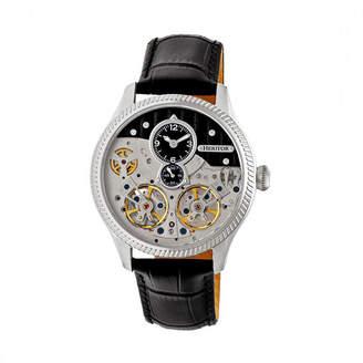 Heritor Unisex Black Strap Watch-Herhr7302