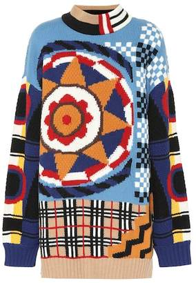 Burberry Intarsia wool and cashmere sweater