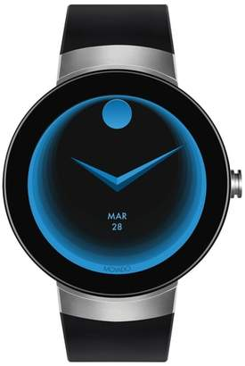 Movado Connect Silicone Strap Smart Watch, 46mm