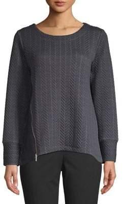 Jones New York Herringbone Stitched Pullover