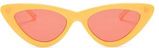 Le Specs X Adam Selman The Last Lolita Cat Eye Sunglasses - Womens - Orange