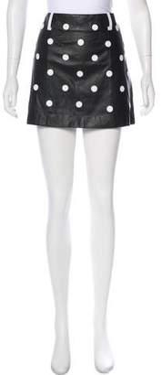 Jeremy Scott Embroidered Polka Dot Mini Skirt