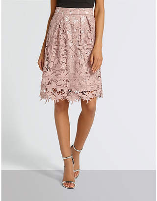Missguided Lace midi skirt