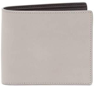Maison Margiela Bi Fold Leather Wallet - Mens - Grey