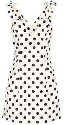 Zimmermann Corsage dotted linen dress