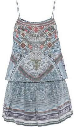 Camilla Crystal-Embellished Printed Silk Crepe De Chine Playsuit