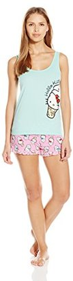 Hello Kitty Women's Candy Coated Short Set $21.81 thestylecure.com