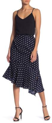 Lush Asymmetrical Polka Dot Skirt
