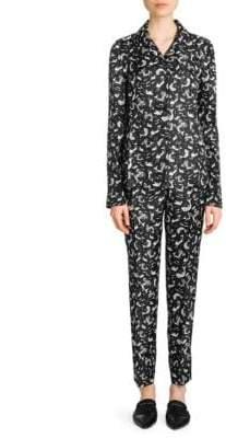 Prada Silk Twill Sirena Print Pajama Set