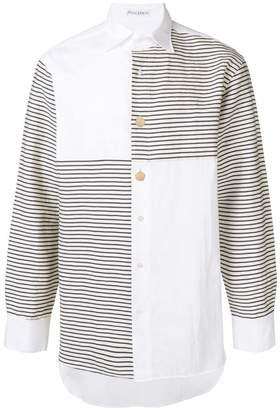 J.W.Anderson patchwork striped shirt