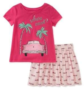 Kate Spade Baby Girl's Two-Piece Where Next Tee and Skirt Set