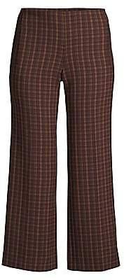 Elie Tahari Women's Odette Plaid Cropped Pants - Size 0