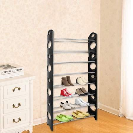 musiccrazyor Multifunctional 8 Tires Shoes Rack Shelf Space Saving Home Closet Organizer Storage Box Stand For 50 Pair Shoes