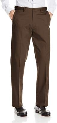 Haggar Men's Premium No Iron Classic Fit Expandable Waist Plain Front Pant