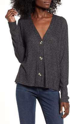 Socialite Button Front Ribbed Top
