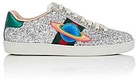 Gucci Women's New Ace Glitter Sneakers - Silver