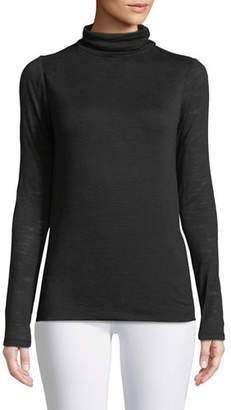 Halston Long-Sleeve Slim Turtleneck Tee