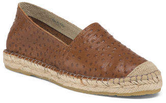 Made In Spain Flat Leather Espadrilles