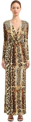 Just Cavalli Leopard Printed Viscose Jersey Dress