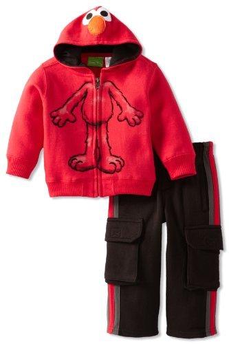 Sesame Street Baby-boys Infant 2 Piece Hooded Elmo Jacket and Pants