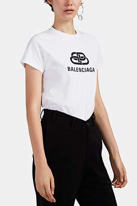 75818cd895af Balenciaga Women's Fitted Logo-Print Cotton T-Shirt - White