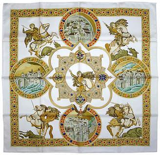 One Kings Lane Vintage Hermes Le Triomphe du Paladin Scarf - The Emporium Ltd.