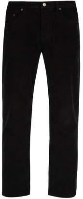 Acne Studios River Slim Fit Stretch Cotton Corduroy Trousers - Mens - Black