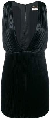 Saint Laurent micro pleated dress
