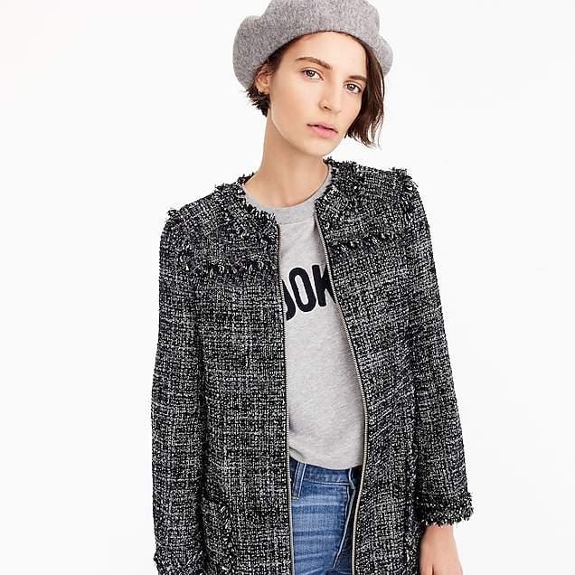Tweed swing coat