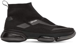 Prada Cloudbust Knit High-Top Sneakers
