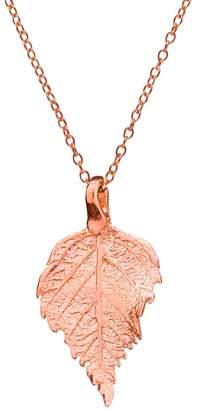 Chupi - The Sweetest Thing Tiny Raspberry Leaf Necklace Rose Gold