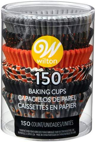 Wilton 150ct Halloween Standard Baking Cups Black/Orange