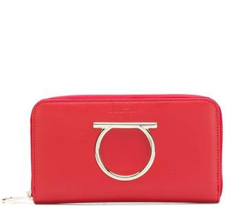 Salvatore Ferragamo Gancini zip-around wallet