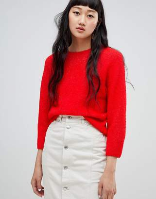 Weekday Boucle Knit Crop Sweater