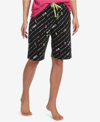 Hue Logo-Drawstring Bermuda Pajama Shorts