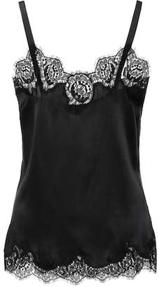Dolce & Gabbana Lace-trimmed satin camisole