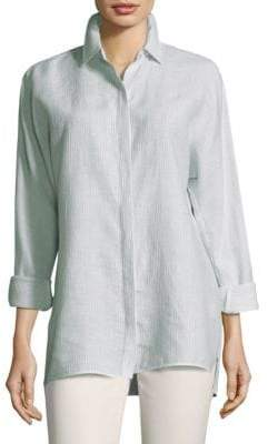 Lafayette 148 New York Alyssa Button-Front Shirt