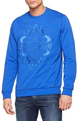 Versace Men's Man Light Sweater Jumper, (Palace Blue E253), Medium