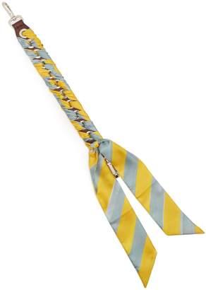 Fendi Strap You whipstitched-ribbon short bag strap